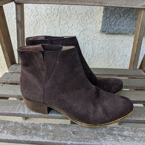 Lucky Brand Benissa Suede Brown Boots